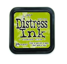 Ranger Distress Inks pad - crushed olive stamp pad TIM27126 Tim Holt