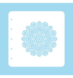 Nellie`s Choice - COLST005 - Stencil Christmas Time -Mandala-