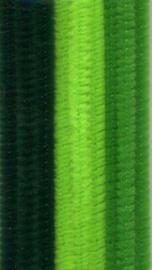 12218-1805 - Chenille, Groen mix - 9 stuks - 50 cm