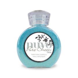 Nuvo Pure sheen glitter - aqua 714N