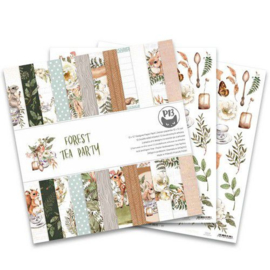 Piatek13 - Paper pad Forest tea party, 12x12'' P13-FOR-08