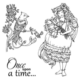 ScrapBerry's Set Of Clear Stamps 10,5x10,5 cm Fairy Tale Once Upon A Time (SCB4904009b)
