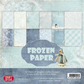Craft&You Frozen Paper BIG Paper Set 12x12 12 vel CPS-FP30