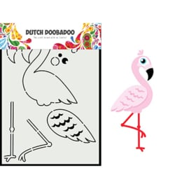 Dutch Doobadoo - 470.713.880 - Card Art Built up flamingo