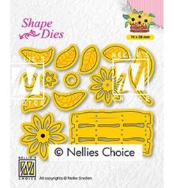 Nellie`s Choice - SD193 - Build-up dies: flower basket
