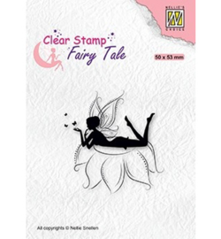Nellie`s Choice - FTCS022 - Fairy Tale nr. 20 Elf laying on flower