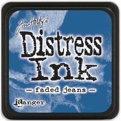 Tim Holtz distress mini ink faded jeans