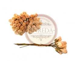 Mini Semi Open Rose Buds - Cream