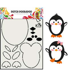Dutch Doobadoo - 470.713.842 - Card Art Built up Pinguin