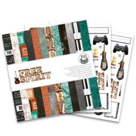 Piatek13 - Paper pad Free Spirit, 12x12'' P13-FRE-08