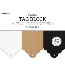Studio Light - SL-ES-TAGBL04 - SL Tag block Gobal Essentials nr.04