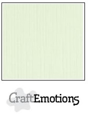 CraftEmotions linnenkarton lichtgroen 30,5x30,5cm