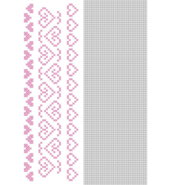 Nellie`s Choice CCPAT010 - CrossCraft Pattern-10 Heart borders-2