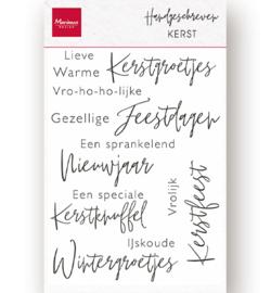 Marianne D - cs1067 - Clear Stamps - Handgeschreven - Kerst
