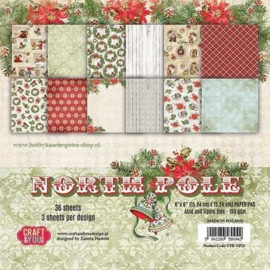 Craft&You North Pole Small Paper Pad 6x6 36 vel CPB-NP15