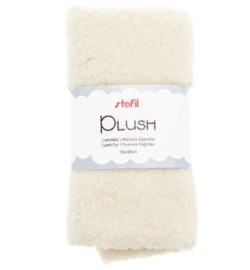 240016-01 - Plush, lamsvel wit, 100% polyester