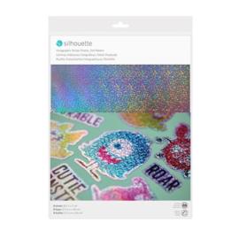 Silhouette - Sticker Paper - Holographic Dots
