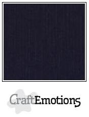 CraftEmotions linnenkarton zwart 30,5x30,5cm