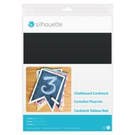Silhouette Chalkboard Cardstock - Adhesive back
