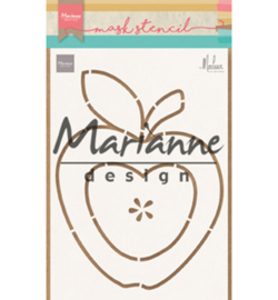 Marianne D PS8013 - Craft stencil: Apple by Marleen