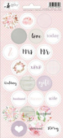 Piatek13 - Sticker sheet Love in Bloom 03 P13-256 10,5x23 cm