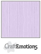 CraftEmotions linnenkarton lavendel-pastel 30,5x30,5cm