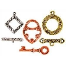 Steampunk Charms: Toggle Clasps
