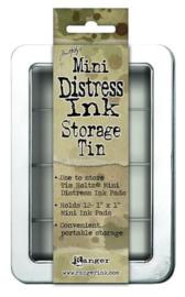 Ranger Tim Holtz Distress Pad Storage Tin - 3x4 Pads (leeg) TDA42013 (GEBRUIKT)