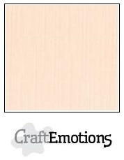 CraftEmotions linnenkarton crème 30,5x30,5cm