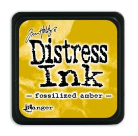 Tim Holtz distress mini ink fossilized amber
