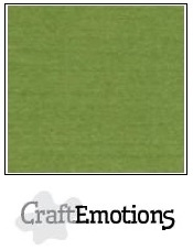 CraftEmotions linnenkarton mosgroen 30,5x30,5cm