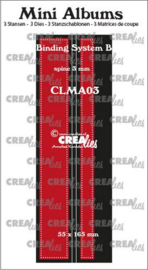 Crealies stans Mini Albums Bindsysteem B CLMA03 55x165 mm