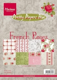 Marianne Design paper pad French roses