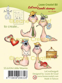LeCrea - clear stamp combi Wormen 55.6326