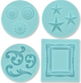 Martha Stewart silicone mold decorative design x4