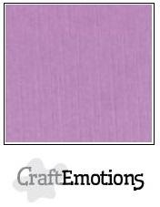 CraftEmotions linnenkarton lila 30,5x30,5cm