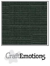 CraftEmotions linnenkarton - olijfgroen LHC-47 A4 250gr