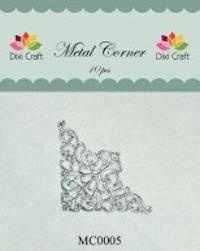 Dixi Craft Metal Corner 35x35 mm zilver - MC0005