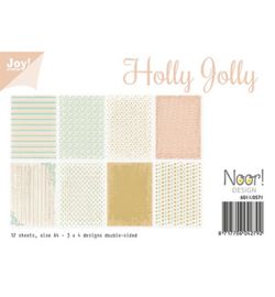 Noor! Design - 6011/0571 - Papierset - Holly Jolly