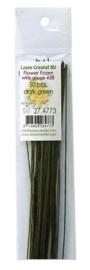 LeCrea - Flower Foam paper wrapped wire #28 50st dark green 27.4766 36cm