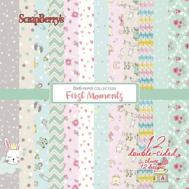 "ScrapBerry's Paper Collection Set 6""*6"" First Moments 190 gsm"