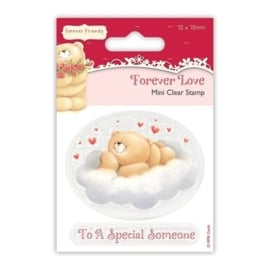 75 x 75mm Clear Stamp - Forever Love - Cloud
