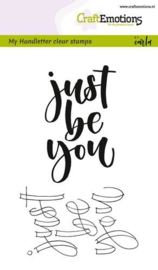 CraftEmotions clearstamps A6 - handletter - just be you