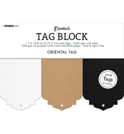 Studio Light - SL-ES-TAGBL02 - SL Tag block Oriental Essentials nr.02
