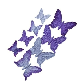 ScrapBerry's Set Of Butterflies 8 pcs Shades Of Blue And Purple (SCB300702)