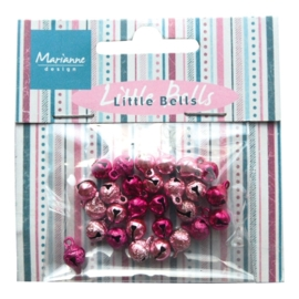 Marianne D Decoration Mini bells - light pink & dark pink JU0939
