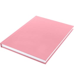 15582 - Dummyboek, blanco hard cover, rood pastel