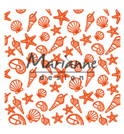 Marianne D Embossing 3D Design Folder  DF3448 - Sea shells