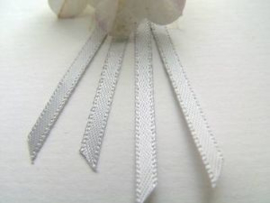 Double Face Satin Ribbon - Pastel Grey  3,5 mm