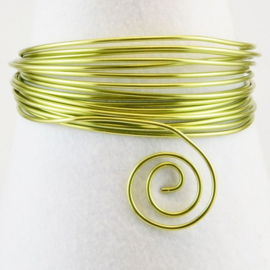 Aluminium wire 0,8mm 15m apple green